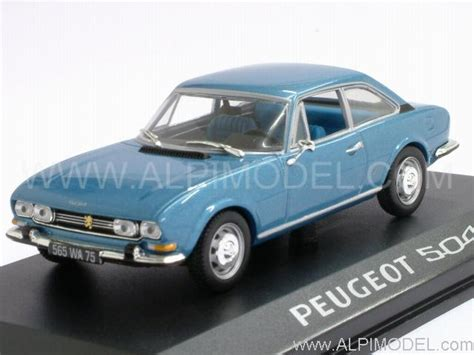 norev Peugeot 504 Coupe (Blue Metallic) (1/43 scale model)