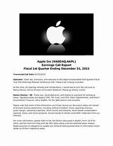 Apple inc (nasdaq.appl) earnings call report - fiscal 1st ...