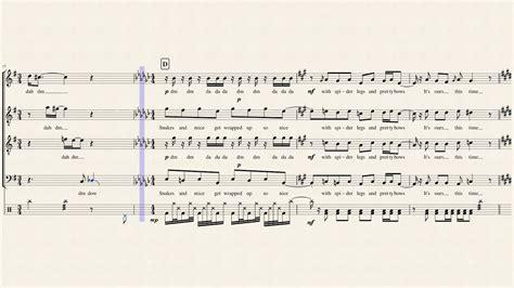 making christmas pentatonix full sheet music with lyrics youtube