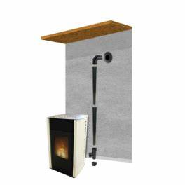 Kit Conduit Poele A Granule : pack raccordement noir 80mm pour conduit existant mural ~ Edinachiropracticcenter.com Idées de Décoration