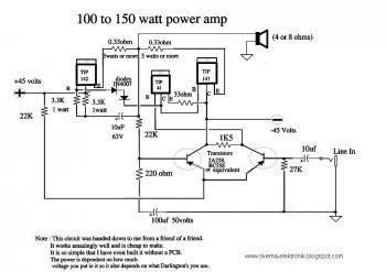Watt Amp Electronic Schematic Diagram