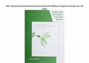 Organic Chemistry 9th Edition By John Mcmurry Pdf