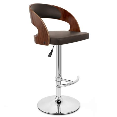 chaise de bar design chaise de bar bois chrome noyer monde du tabouret