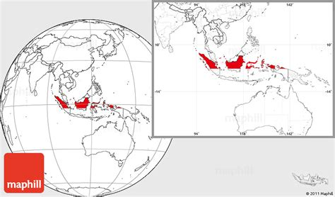 flag location map  indonesia blank