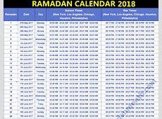 Ramadan 2018 Calendar yearly printable calendar
