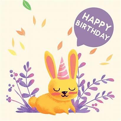 Happy Birthday Ecard Critters Rabbit Ecards Cards