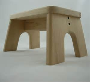 Unfinished Wood Step Stool