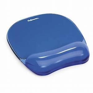 tapis de souris et repose poignet gel bleu With tapis souris avec gel