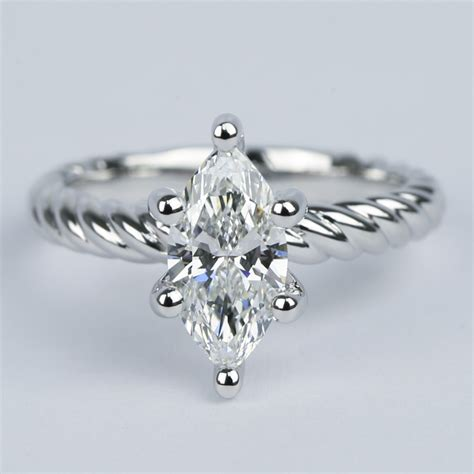 carat marquise twisted rope diamond engagement ring