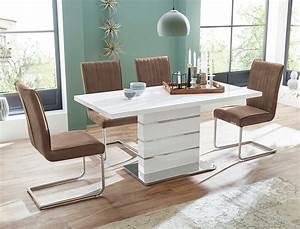 Hochglanz Tisch Weiß : s ulentisch anna 120 160 x80x76 cm wei hochglanz esszimmertisch tisch wohnbereiche esszimmer ~ Frokenaadalensverden.com Haus und Dekorationen