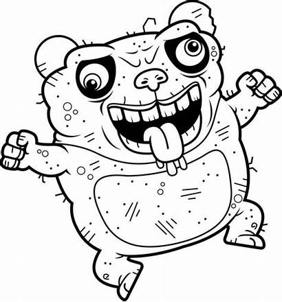 Ugly Panda Crazy Bear Loucos Fou Coloring