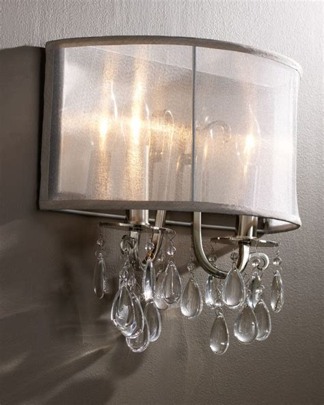 hton polished chrome wall sconce with silver