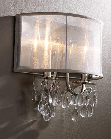 Hampton Polished Chrome Crystal Wall Sconce With Silver