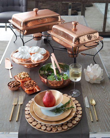 neiman marcus  piece gold brushstroke dinnerware service   chafing dishes dinnerware