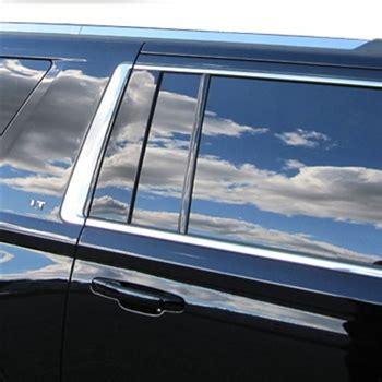 chevrolet suburban chrome roof rack trim