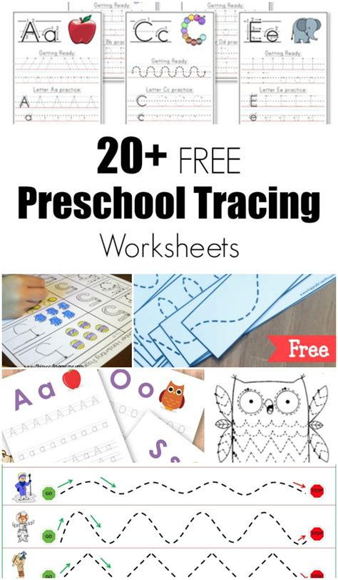 20 free preschool tracing worksheets 471 | free preschool tracing worksheets