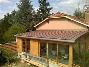 Extension Ossature Bois : extension ossature bois et toiture cintr e vienne ~ Melissatoandfro.com Idées de Décoration