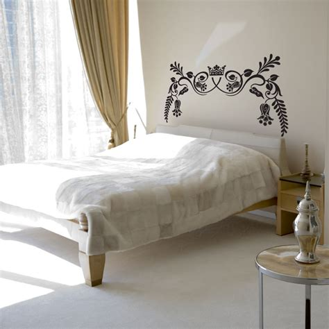 bedroom wall decals royal ornate headboard wall decal sticker graphic