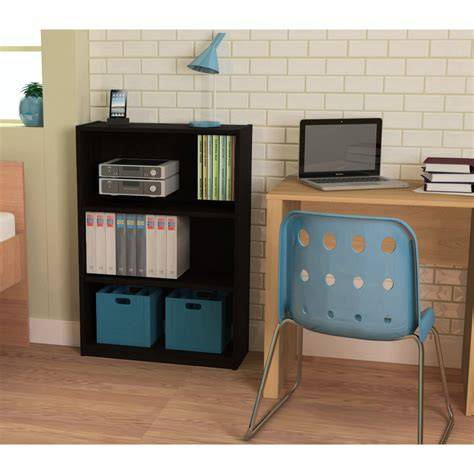 One Shelf Bookcase by Ameriwood 3 Shelf Bookcase Finishes Walmart