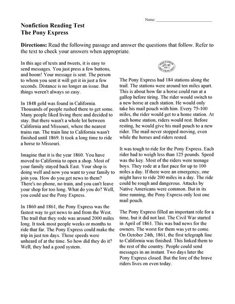 Readings are also good for k12; English Comprehension Worksheets Grade 9 - salspartans