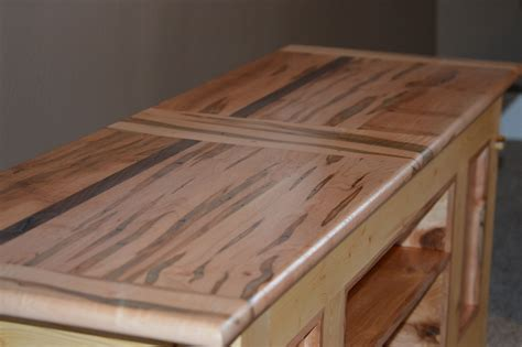 Hand Made Ambrosia / Wormy Maple And Pine Tv Stand / Coffee Table With Walnut Accent by Edelman