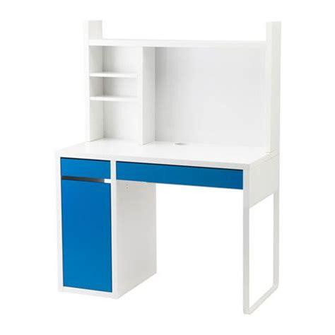 si e bureau ikea ikea micke poste de travail blanc bleu blanc vous