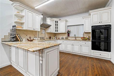 Antique White Kitchen Cabinets  Vintage Style  Rta