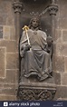 King Wenceslaus IV of Bohemia. Statue on the Powder Tower ...