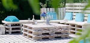 Fabriquer salon de jardin en palette de bois 35 idées créatives