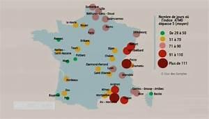 Carte Pollution Air : quelles sont les zones les plus pollu es en france ~ Medecine-chirurgie-esthetiques.com Avis de Voitures