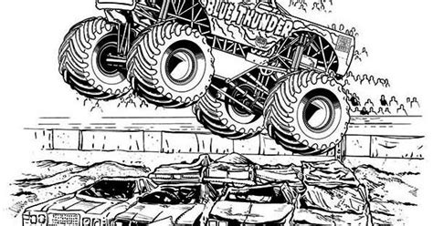 blue thunder monster truck coloring pages   truck coloring pages monster truck coloring