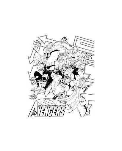Avengers Coloring Pages Poster Avenger Marvel Printable