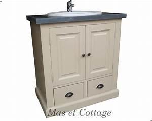 meuble salle de bain pin massif style anglais With meuble salle de bain style anglais