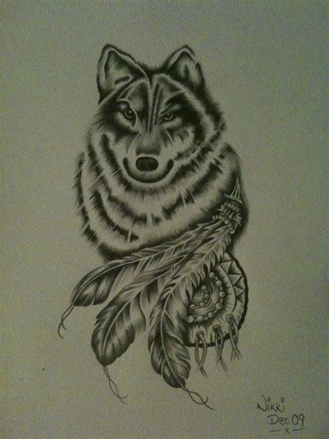 wolf drawing  nikkimagennis  cool collection