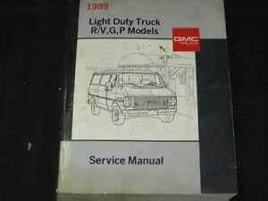 1989 Chevrolet Gmc Light Duty Truck R V P Models Wiring Diagrams Manual