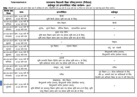 uttarakhand  date sheet total jobs hub