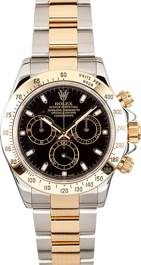 rolex daytona black dial   sale  bobs watches