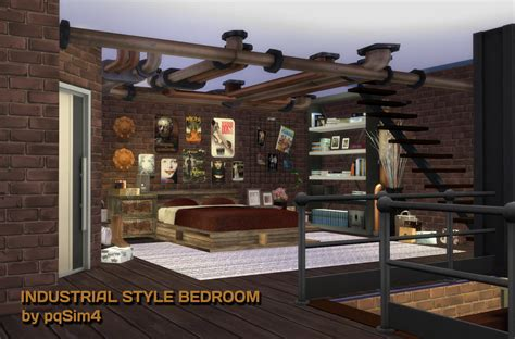 sims  blog industrial style bedroom  pqsim