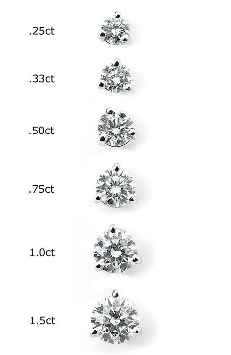 size diamond stud earrings  diamond stud earrings