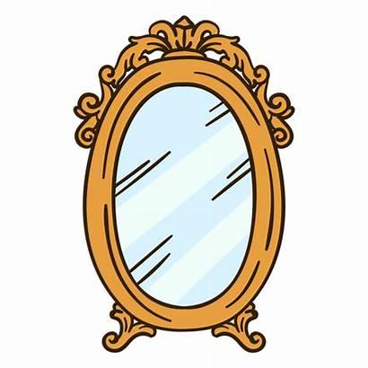 Mirror Illustration Wall Round Ornate Transparent Svg