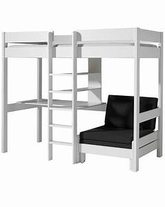 Hochbett 90x200 Weiß : hochbett pino 90x200 mit tisch und sesselbett in wei ~ Indierocktalk.com Haus und Dekorationen