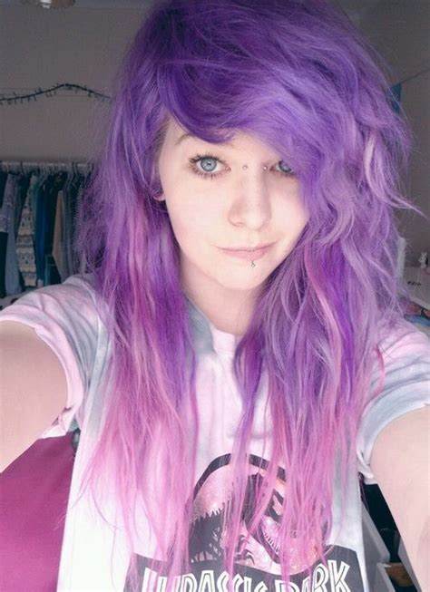Purple Andand Pink Dyed Scene Hair Pretty Hair