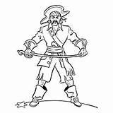 Coloring Pages Pirates Pirate Blackbeard Printable Toddlers Getcolorings Bartholomew Roberts Getdrawings sketch template