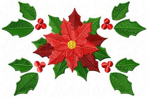 poinsettia design christmas motifs poinsettia machine embroidery designs ebay