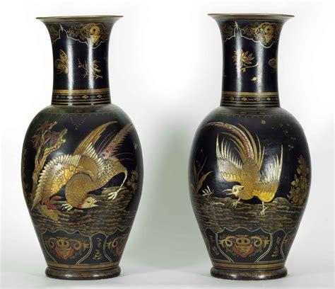 valutazione vasi cinesi coppia di vasi berlino in terracotta con lacche cinesi