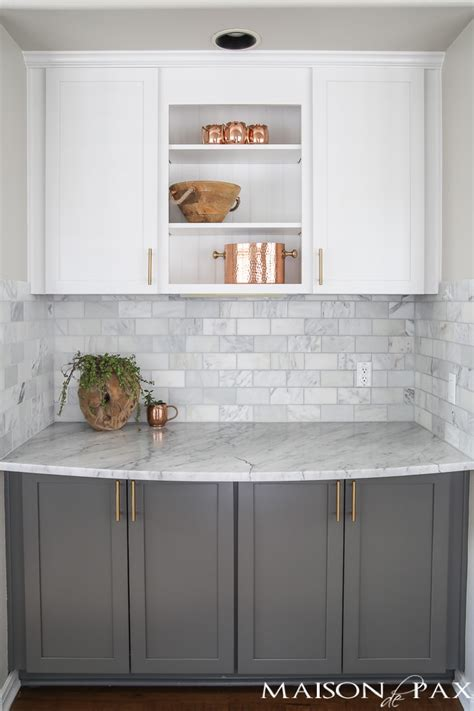 gray  white  marble kitchen reveal maison de pax