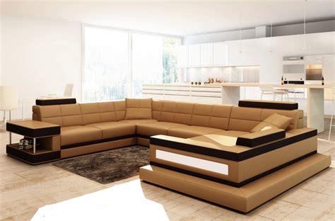 canap 233 d angle en cuir italien 8 places majestic marron mobilier priv 233