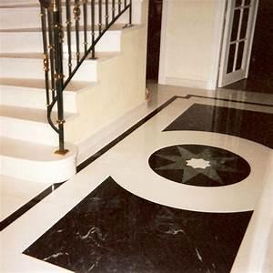 Dallages en marbre, pierre et granit > Réalisations > Marbrerie de Vitry Fabrication, pose et