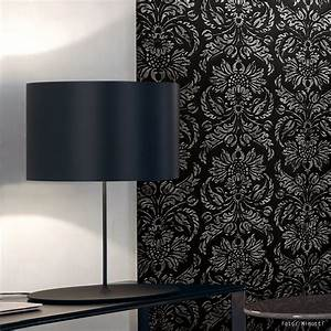Tapete Barock Schwarz : wallface 14800 imperial vintage barock wand paneel tapete schwarz grau 2 60 qm ebay ~ Yasmunasinghe.com Haus und Dekorationen