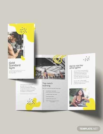 fitness brochure ai psd google docs apple pages